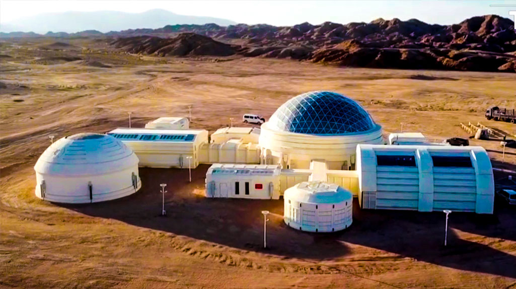 Inside Mars Base One China