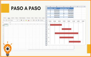 como-hacer-un-diagrama-de-Gantt-en-Excel